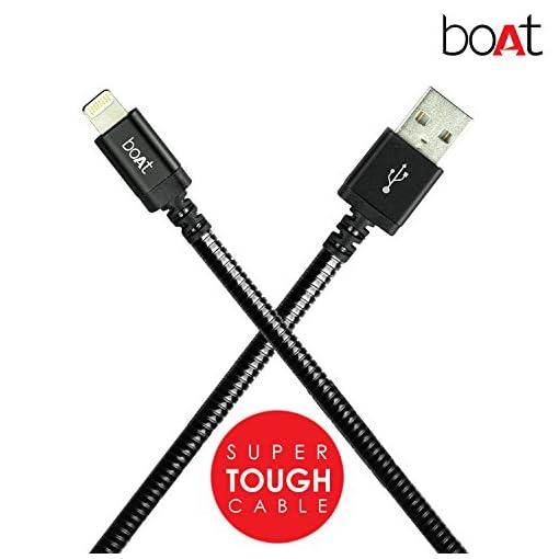 Boat LTG 800 Tough Lightning Cable 1.0-Meter (Black)
