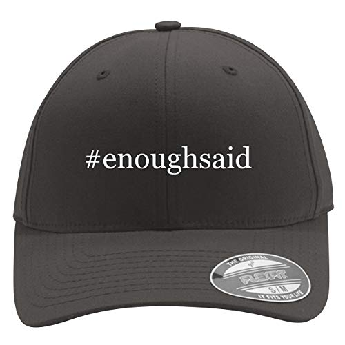 #enoughsaid - Men's Hashtag Flexfit Baseball Cap Hat, Dark Grey, Small/Medium