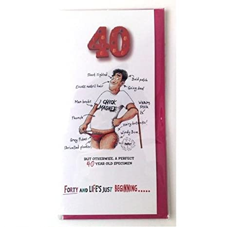 Boxer Age 40 Him Funktart Greeting Card Amazon Co Uk Kitchen Home