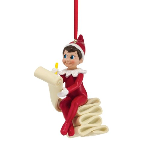 Department 56 Elf on the Shelf Checking The List Ornament, 3.82 inch ()
