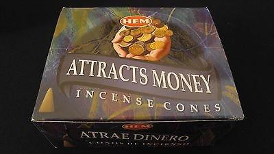 Dreams Incense (ATTRACTS MONEY 12 Boxes of 10 = 120 HEM Incense Cones Bulk Case Retail Display)