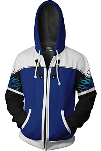 BeautifulTimes Kingdom Hearts Jacket Sora Aqua Hoodie Adult Halloween Costume -