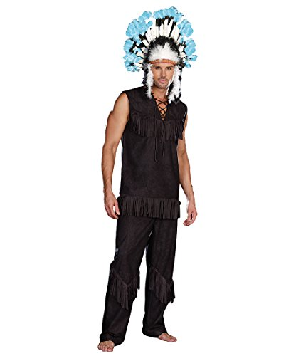Authentic Western Indian Chief Costumes - Chief Wansum Tail Adult Costume -
