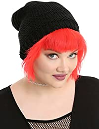53be8a39788 Oversized Black Heavy Knit Slouch Beanie · 12 · Product Details · Hot Topic
