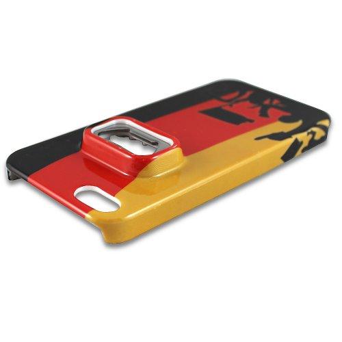 Apple iPhone 5 5S Deutschland WM 2014 FLASCHENÖFFNER Fan Design Case Schutz-Hülle Cover Schale Etui handyhülle ✔ Original thematys® ✔ nur bei uns ✔ WM Highlight 2014 thematys®