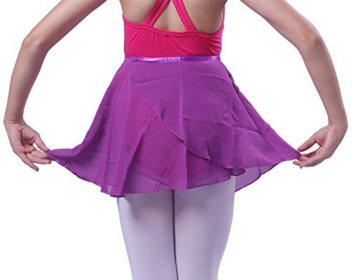 Girls Ballet Wrap Skirt Kids Dance Skate Over Scarf Tutu Skirts Chiffon Dress