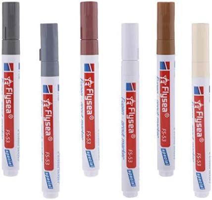 Hellery 6本セット タイル目地補修ペン 補修剤 防水ペン セラミック タイル美化 6色セット マーカーペン
