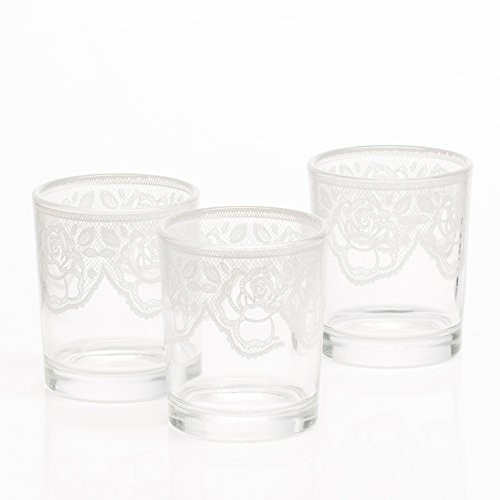 (Richland Peony Lace Votive Holder Set of 12)