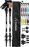 TrailBuddy Lightweight Trekking Poles - 2-pc Pack Adjustable Hiking or Walking Sticks - Strong Aircraft Aluminum - Quick Adjust Flip-Lock - Cork Grip