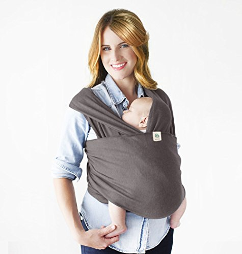 Baby Wrap Carrier,Baby Sling,Dad and Mom Baby Body Carrier,Snugglie Infant Baby Carrier,Breastfeeding Light Sling Wraps for Baby,Baby Holder Wraps,Great Baby Shower Gift by BELOPO(Latte Gray)