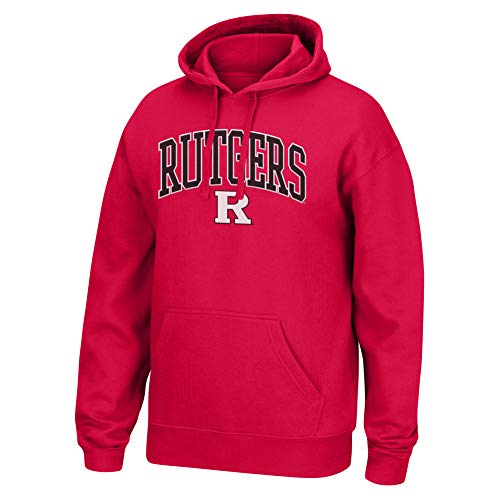 Top of the World NCAA Men's Rutgers Scarlet Knights Applique Arch Over Hoodie True Red Medium