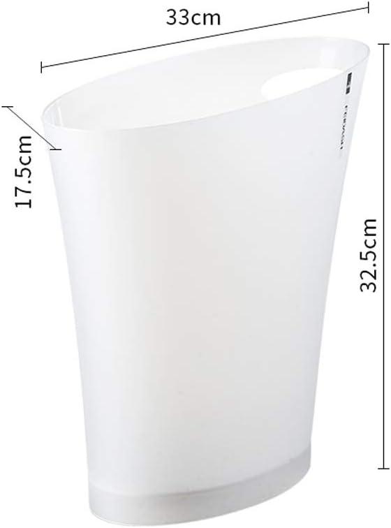 NYDZDM poubelle en Plastique Toilettes de Poubelle de Salle de Bains Corbeille /à d/échets Salon Corbeille /à Papier Poubelle /à ordures m/énag/ères Anneaux de Pression Poubelle /à Poubelle sans Couvercle C