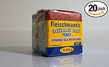 Fleischmann's, Dry Yeast, Instant, 1 Pound Vacuum Pack (20 Count)
