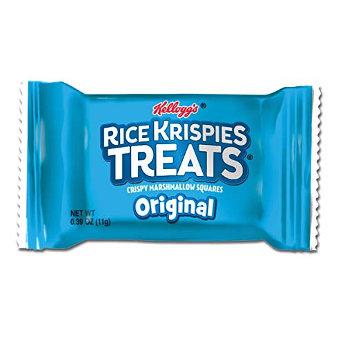 Kellogg's Rice Krispies Treats, Mini Squares, Crispy Marshmallow Squares, Original, Bulk Size (Pack of 600, 0.39 oz Bars) ()