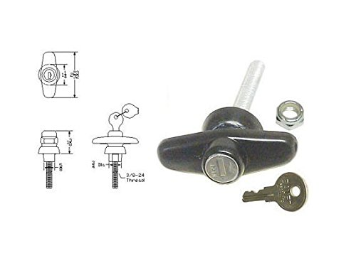 Bauer Truck Cap Bonded Door T-Handle Lock T500-4