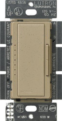 Ms Mocha Stone - Lutron Maestro C.L Dimmer Switch for Dimmable LED, Halogen & Incandescent Bulbs, Single-Pole or Multi-Location, MACL-153M-MS, Mocha Stone