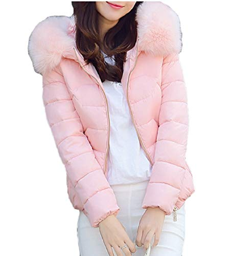Women Outwear Down Jacket Winter Pink Puffer security Coats Hood Warm ZvwqFvpn
