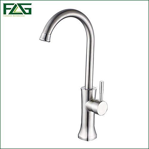 FLG Kitchen Faucet Deck Ceramic Wash Basin Torneira De Cozinha 360 Degree Rotating Torneira Monocomando Para Cozinhas Taps CS009,White