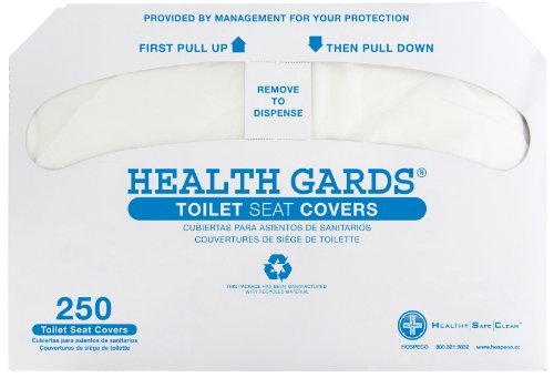 Price comparison product image HOSPECO HG1000 Health Gards Toilet Seat Covers,  Half-Fold,  White,  Pack of 250 (Case of 4)