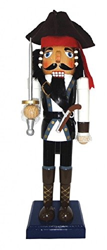 Santa's Workshop Johnny Pirate Nutcracker, 14'' by Santa's Workshop