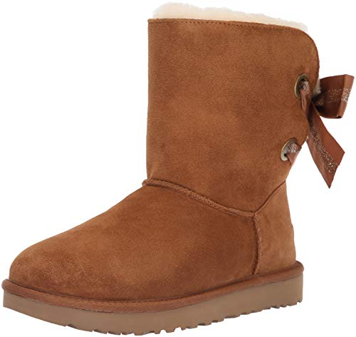 UGG Women's W Customizable Bailey Bow Short Fashion Boot, Chestnut, 7 M US ()