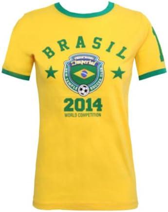 Moda 4 Menos Nuevo Mujer Copa del Mundo 2014 impreso Top ...