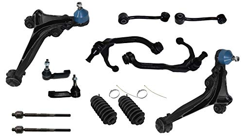 2011 Jeep Renegade - Detroit Axle - 12PC Front Upper Lower Control Arms w/Ball Joint, Sway Bars, Inner Outer Tie Rods, Rack Boots for 2007-2011 Dodge Nitro - [2008-2012 Jeep Liberty]