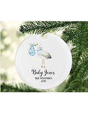 Flowershave357 Blue Stork Ornament Pregnanacy Reveal Gift Pregnancy Announcement Pregnancy Announcement Gift Gift for Expectant Parents Stork