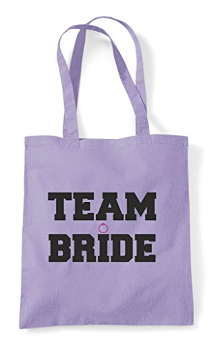 Do Tote Personalised Bride Party Hen Customised Fuschia Sport Team Style Bag Shopper USq860xpw