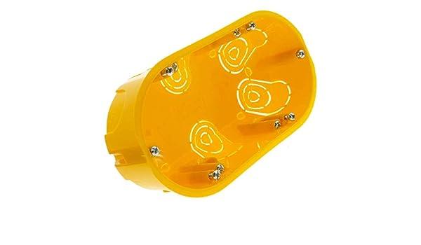 BeMatik - Caja de empotrar Rectangular 140x74mm para Paredes ...