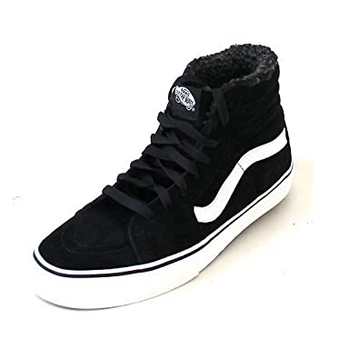 8d56aca19d Vans Sk8-Hi (Pig Suede Fleece) Black Blanc  Amazon.co.uk  Shoes   Bags