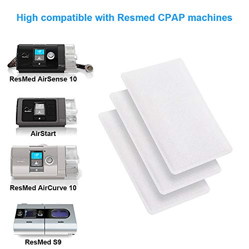 Universal Remsed CPAP Filter for ResMed AirSense 10, ResMed AirCurve 10, ResMed S9, AirStart, Series CPAP Machines(40 Pack)