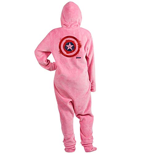 (CafePress Captain America Novelty Footed Pajamas, Funny Adult One-Piece PJ Sleepwear)