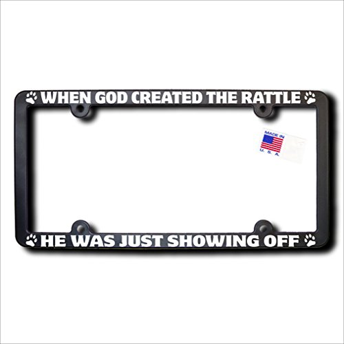 When God Created RATTLE REFLECTIVE TEXT Frame (God Rattle)