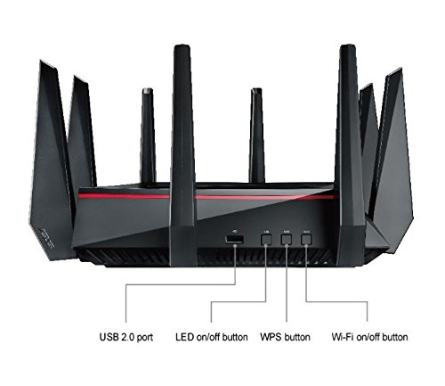 ASUS AC5300 WiFi Tri-band Gigabit Wireless Router with 4x4 MU-MIMO, 4x LAN Ports, AiProtection Network Security and WTFast Game Accelerator, AiMesh Whole Home WiFi System Compatible (RT-AC5300) by Asus (Image #5)