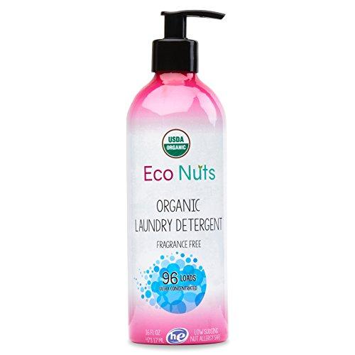 Eco Nuts USDA Organic Liquid Laundry Detergent, 16 Fl Oz for 96 Loads (Best Laundry Detergent For People With Eczema)
