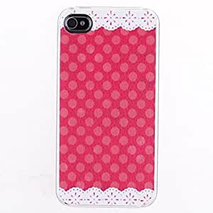 DUR Lace Round Dots Pattern Skin Grains Back Case for iPhone 4/4S