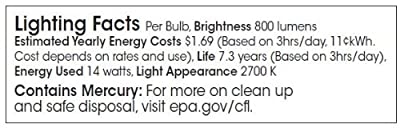 TCP 1G3014 CFL G30 Globe - 60 Watt Equivalent (only 14w used!) Soft White (2700K) Covered Decorative Globe Light Bulb