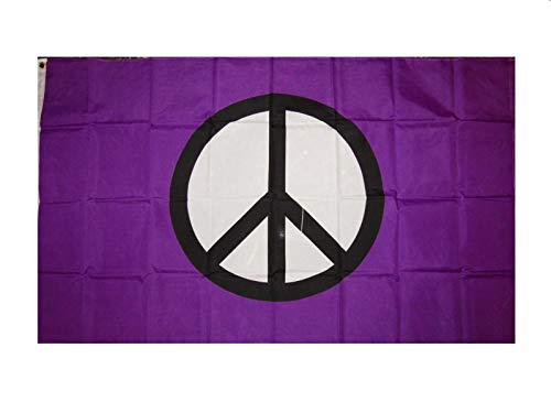 Moon Knives 3x5 Peace Flag Purple Peace Sign Symbol Hippie B