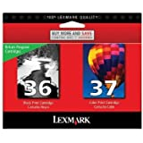 LEX18C2229 - Lexmark No. 36/No. 37 Black and Color Return Program Ink Cartridges