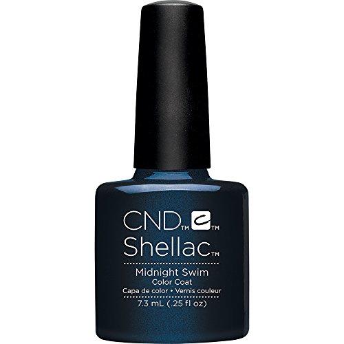 CND Shellac Nail Polish, Midnight Swim, 0.25 fl. (Midnight Nail Lacquer)