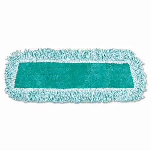 Rubbermaid Commercial RCP Q408 GRE Standard Microfiber Dust Mop with Fringe, Cut-End, 18'' x 5'' (Pack of 12) by Rubbermaid Commercial