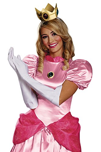 Disguise Women's Nintendo Super Mario Bros.Princess Peach Adult Costume Accessory Kit, Gold/Red/Green/White, One Size for $<!--$20.39-->