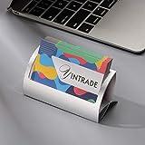 Business Card Holder for Desk, Metal Aluminum