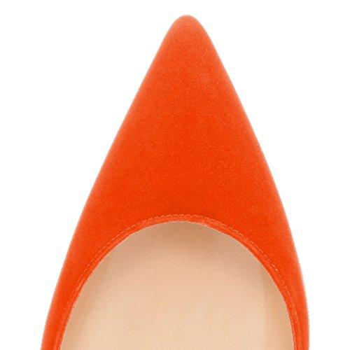 Scarpe Kolnoo Donna Kolnoo Orange Chiuse Scarpe qwFrWpOqP