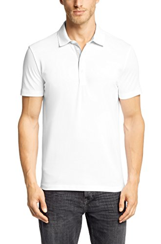 Hugo Boss Polo Poloshirt Regular-Fit Polo ´Ferrara Modern Essential` aus Piqué von BOSS Size: S / White