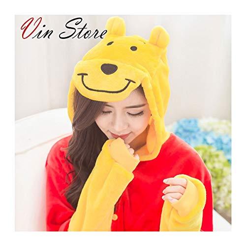 Vin Store Winnie The Pooh Costume - Adult Unisex Winnie Cosplay Costume Pooh Pajamas Onesie (M)]()