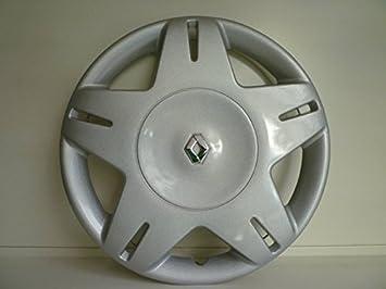 Juego de tapacubos 4 tapacubos diseño Renault Megane desde 2001 o r 14 r 13 () Logo cromado: Amazon.es: Coche y moto