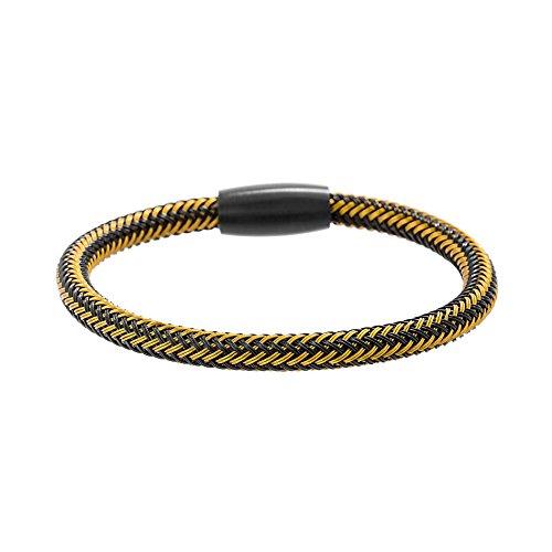 Black IP Wedding Ring Set