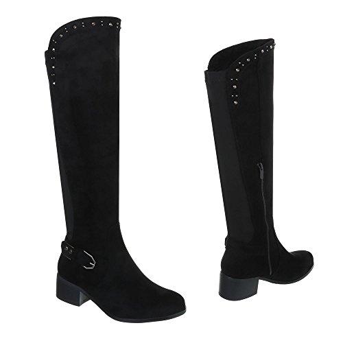 Zapatos para mujer Botas Tac—n ancho Botas cl‡sicas Ital-Design Negro